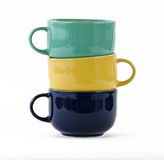 Three cups with handles Stock Photos