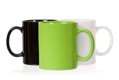 Three cups Stock Image