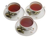 Three cups of tea Royalty Free Stock Photography