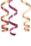 Three curly ribbons Royalty Free Stock Image
