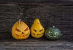 Three curved Pumpkin Royalty Free Stock Photos