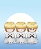 Three cute angels Stock Photo