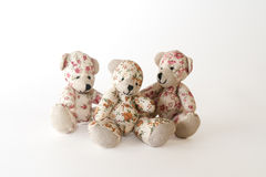 Three cute bears. On the white background Royalty Free Stock Photography