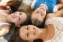 Three cute children stock images
