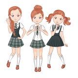 Three cute girlfriends. Royalty Free Stock Image