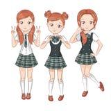 Three cute girlfriends. Stock Photography