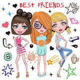 Three Cute girls Royalty Free Stock Image