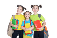 Three cute little girls Stock Images