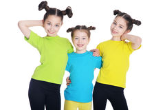 Three cute little girls Royalty Free Stock Image