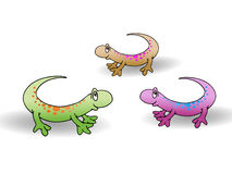 Three cute lizard Royalty Free Stock Photo