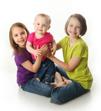 Three cute sisters Royalty Free Stock Photography