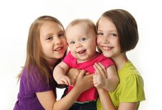 Three cute young sisters Royalty Free Stock Photos