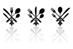 Three cutlery Stock Photo