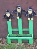 Three Cutout Scarecrows Stock Photo
