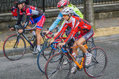 Three cyclist. Royalty Free Stock Photography