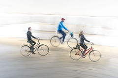 Three cyclists Royalty Free Stock Photo