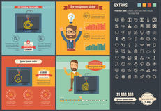 Three D printing flat design Infographic Template Stock Images
