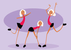 Three dancers Royalty Free Stock Photos