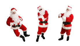 Three Dancing Santas Royalty Free Stock Image