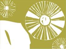 Three Dandelion Puffs Stock Image