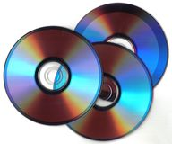 Three dark cd Stock Photos