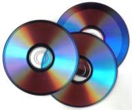 Three dark cd Stock Photos
