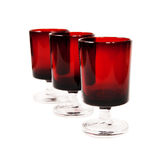 Three dark-red glasses Royalty Free Stock Photos