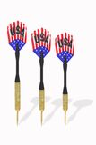 Three darts with US flags Stock Image