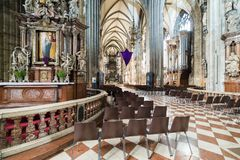 Visiting St. Stephen's Cathedral at Vienna, Austria's capital Royalty Free Stock Image