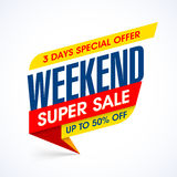 Three days super sale banner Stock Photo