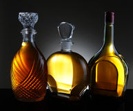 Three Decanters Royalty Free Stock Photos