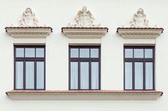 Three decorated palace windows Stock Photography