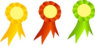 Three decorated ribbons Stock Images
