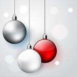Three decoration Christmas balls Royalty Free Stock Photo