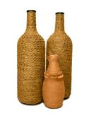 Three decorative bottles hand made Stock Images