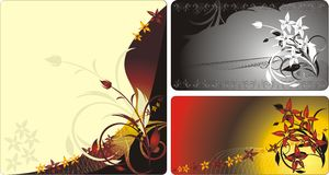Three decorative cards stock illustration