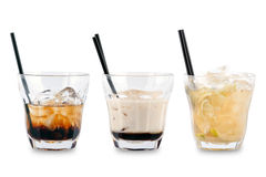 Three decorative cocktails Stock Photos