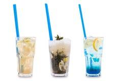 Three decorative cocktails royalty free stock image