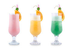 Three decorative cocktails Royalty Free Stock Image