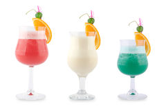 Three decorative cocktails Stock Photo