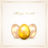 Three decorative Easter eggs Royalty Free Stock Images