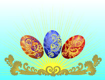 Three decorative eggs Royalty Free Stock Photography
