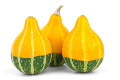 Three decorative fancy pumpkins Stock Photo