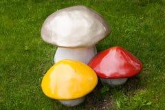 Free Three Decorative Mushroom - Decoration On The Lawn. Stock Images - 40340064