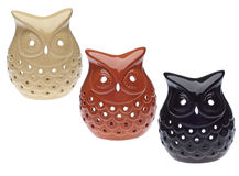 Three Decorative Owls Stock Photos