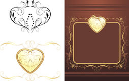 Three decorative retro elements for design stock illustration
