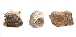 Three decorative rocks. Three unique rocks for decoration Royalty Free Stock Image