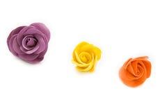 Three decorative roses Stock Photo