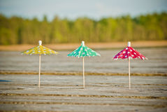 Three decorative umbrellas Royalty Free Stock Image