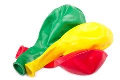 Three  deflated balloon Stock Image